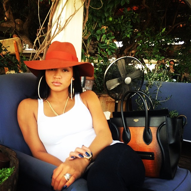 "Diddy's picture of Cassie looking like, ""BABY BOO! @casandrae DAMN U FINE! :)"""