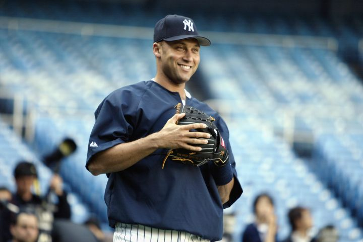 Whether he's warming up, working the field, or up to bat, Derek Jeter is so damn fine.