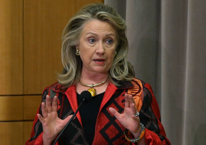 October 2012: Hillary knows how to rock a blazer.