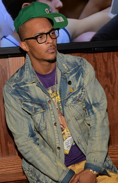 T.I. looking anxious.