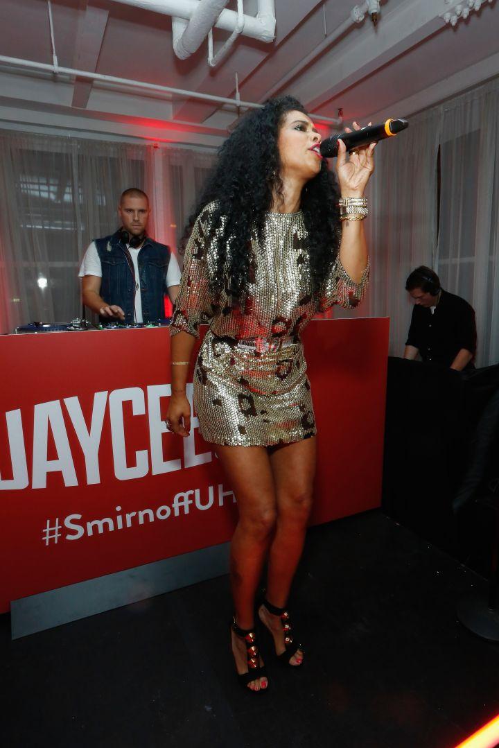 "Kelis Performs At Smirnoff & Spotify's ""Ultimate House Party"" with DJ JayCeeOh."