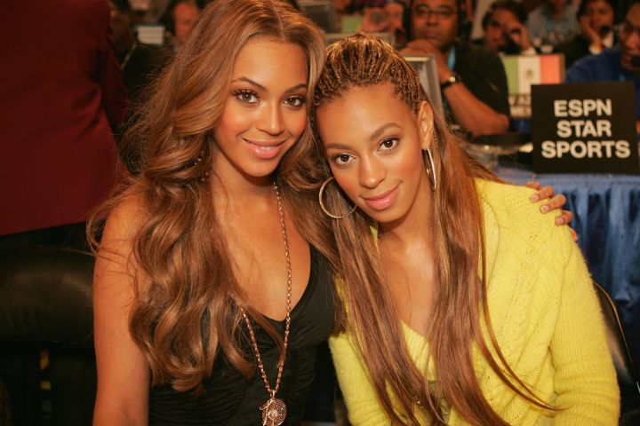 Solange took a page out of Bey's book and opted for a honey blonde look.