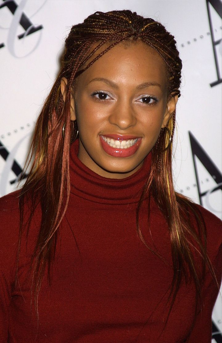 Young Solange donned micro braids with highlights back in 2002.