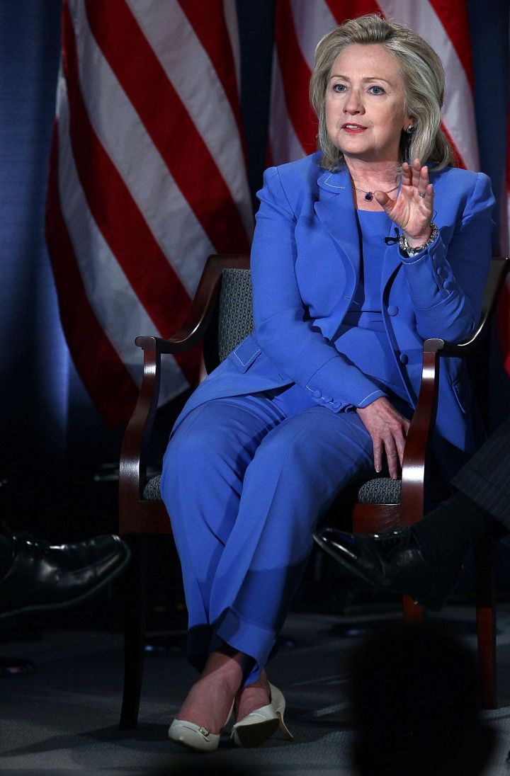 "August 2011: ""The thing about pantsuits is…"""