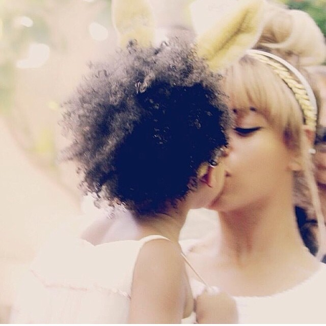 An Easter kiss from mommy.