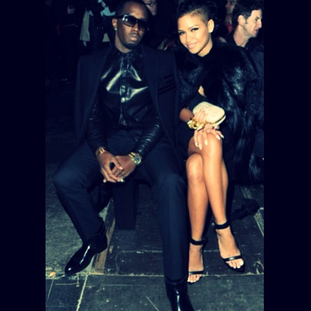 "She matches his fly. ""#tbt Givenchy Show Paris February 2012 : My heart & my #swag twin."""