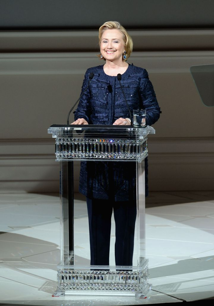 June 2013: Hillary kept it classy at the CDFA ceremony.