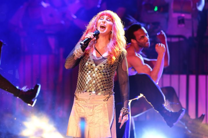 Cher performs at the 26th annual Dance On The Pier concert in NYC.