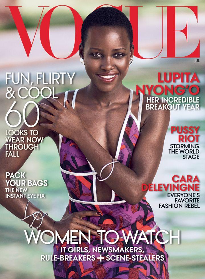 Lupita Nyong'o covers Vogue Magazine.