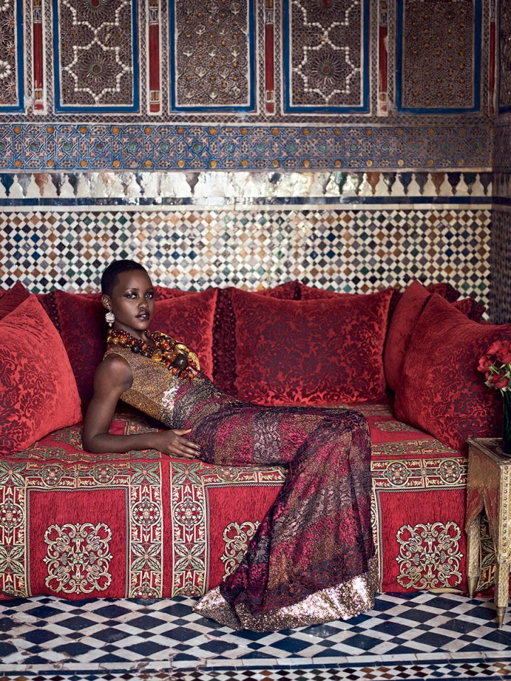 Lupita Nyong'o in Rodarte.