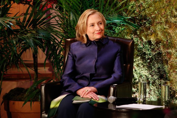 May 2013: Hillary's pantsuits have really evolved through the years, are we right?