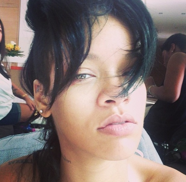 Rihanna, the social media queen, is bare and beautiful.