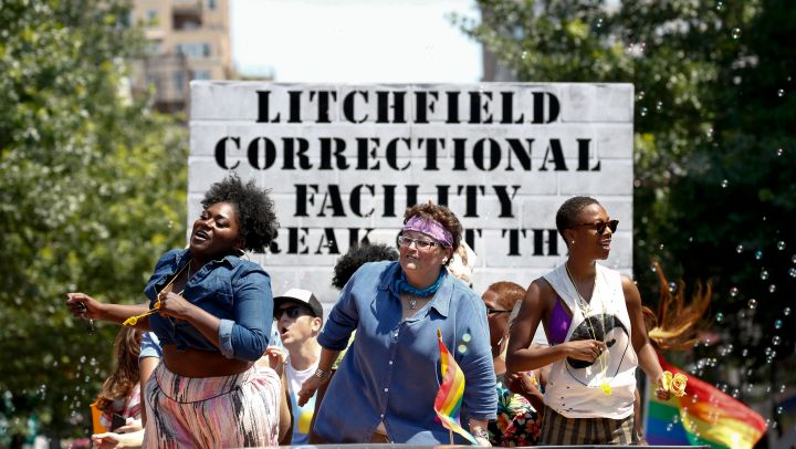 """The cast of """"Orange is the New Black"""" brings Litchfield to the NYC Pride parade."""