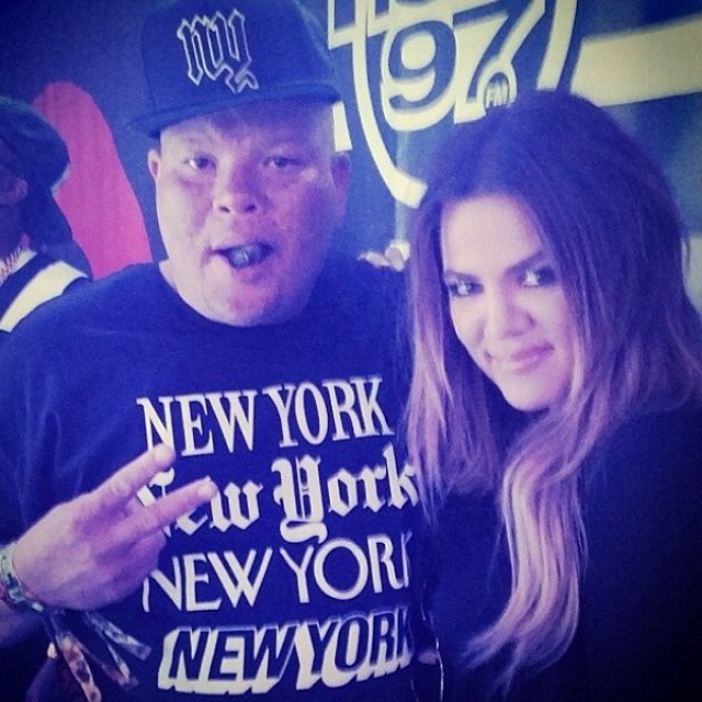 Khloe Kardashian made an appearance at Summer Jam at Met Life Stadium in New Jersey.
