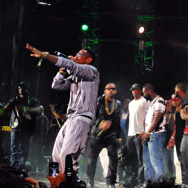 Fabolous rocked the crowd at Summer Jam.