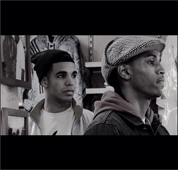 "Throwback Pic Of Trey & ""Heartbreak"" Drake."