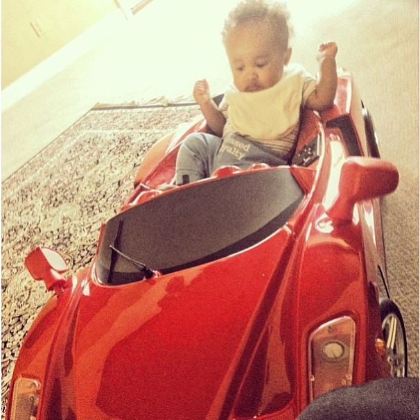 He keeps his whip clean.