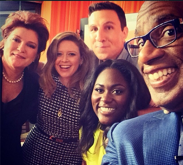 Red, Nicki, Officer Mendez, and Taystee Hangin' With Al Roker.