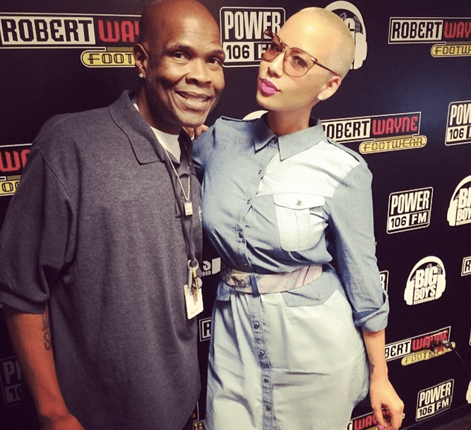 Amber Rose preps for an interview with Big Boy.