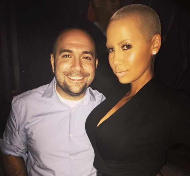 Amber Rose hangs out with Peter Rosenberg.