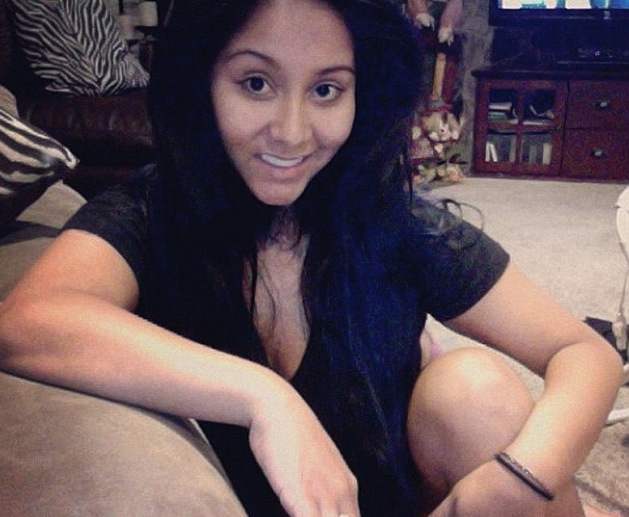 """Snooki is all smiles and over the heavy makeup from her """"Jersey Shore"""" days."""