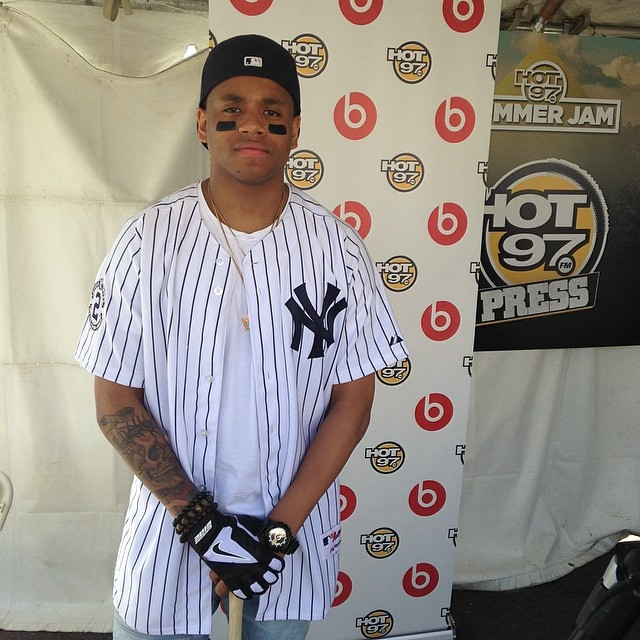 Mack Wilds repped NYC backstage at Summer Jam.