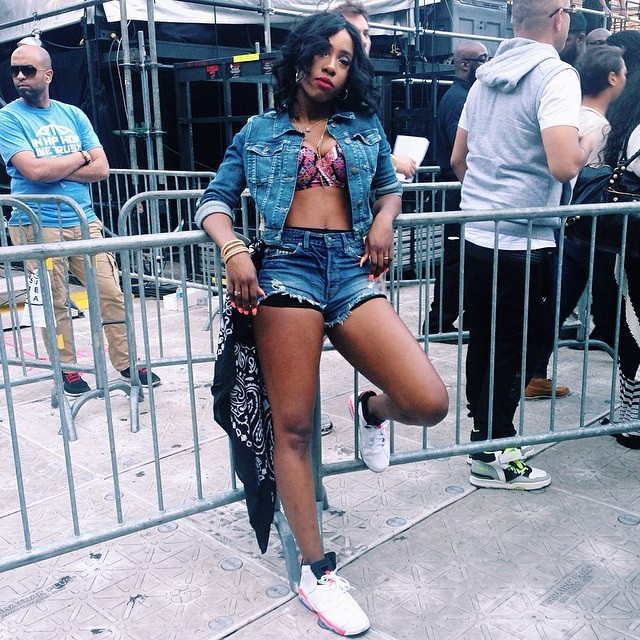 Sevyn Streeter looked gorgeous after her performance.