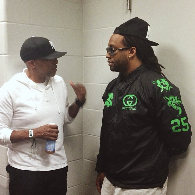 Ty Dolla $ign chilled backstage.
