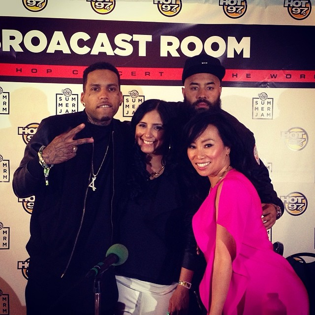 Kid Ink posed with the Hot 97 crew.