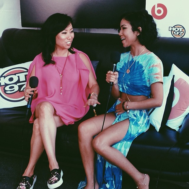 Jhene Aiko chatted with Miss Info after her performance at Summer Jam.