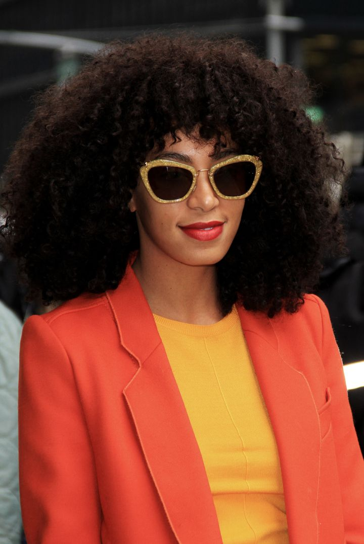 She continued the year with even bigger hair.