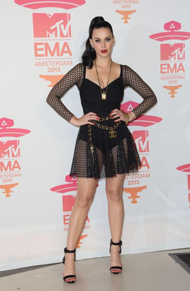 Katy Perry Rocks A Full Bodysuit.