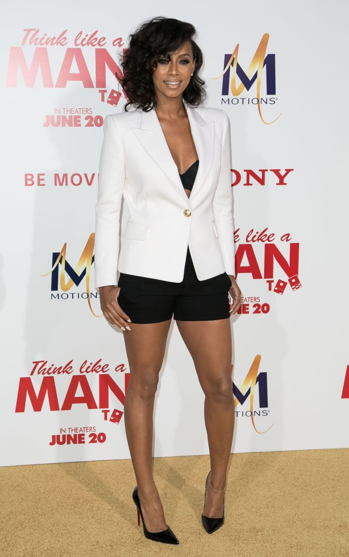 Ms. Keri Baby! Keri Hilson kept it cute in a white blazer paired with black bottoms and Christian Louboutins.