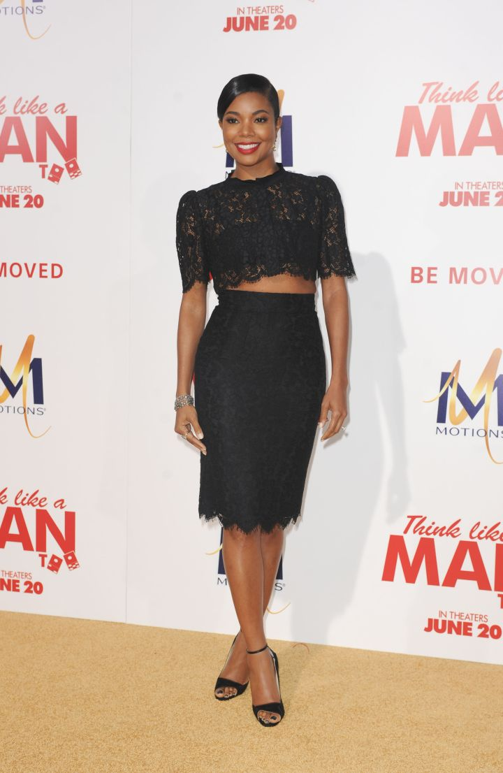 Gabrielle Union was the cream of the crop (top) in lacy separates.