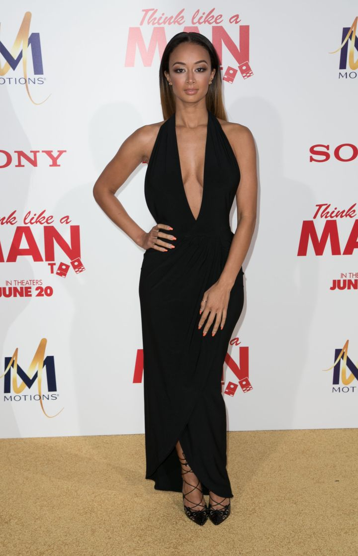 "Draya was a ""fine ass girl,"" as usual, taking the plunge in a floor-length, low-cut dress."
