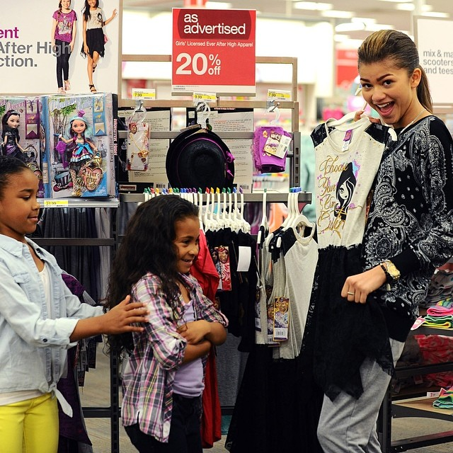 She takes her nieces to Target. How cute!