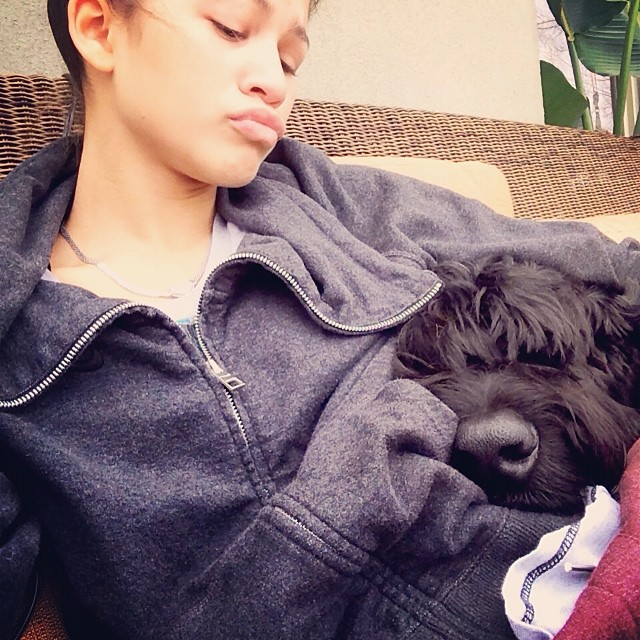 Zendaya said she enjoys a little R&R with her dog during her downtime.