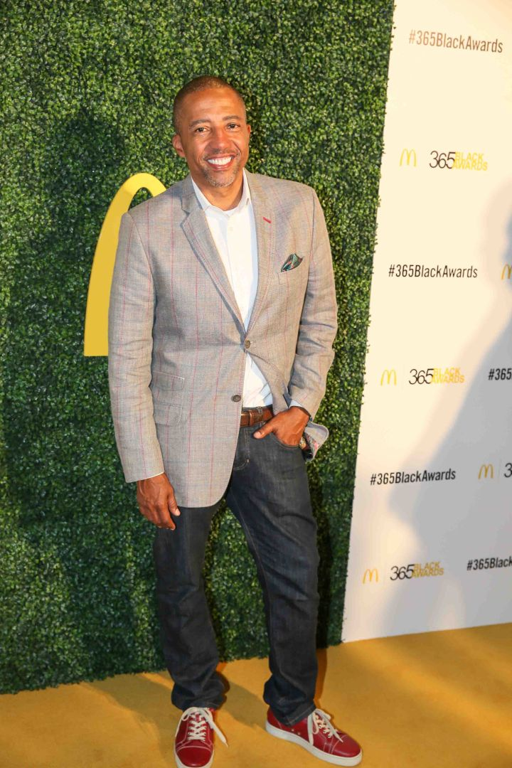 Kevin Liles hits the red carpet before the McDonald's 365Black Awards.
