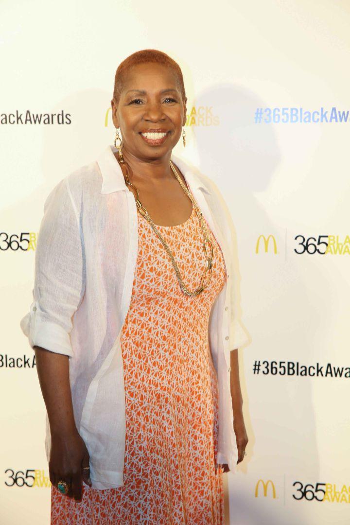 Iyanla Vanzant hits the red carpet before the McDonald's 365Black Awards.