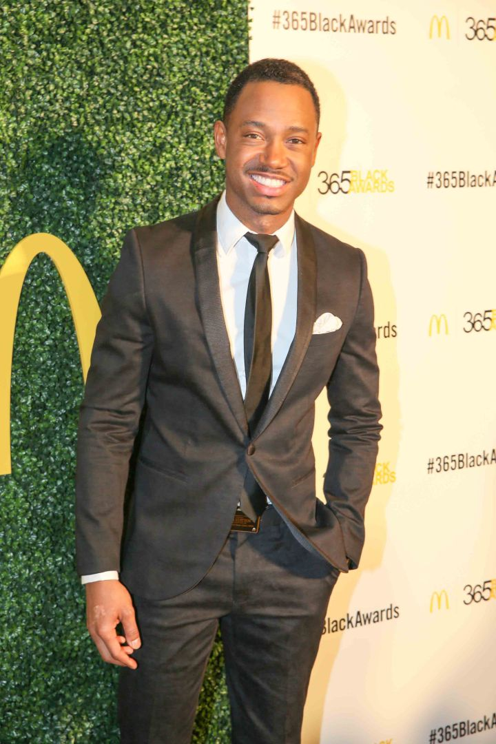 Terrence J hits the red carpet before the McDonald's 365Black Awards.