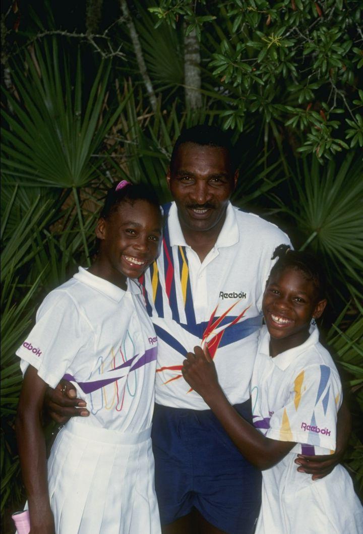 Richard, Venus, and Serena at a tennis camp in 1992.