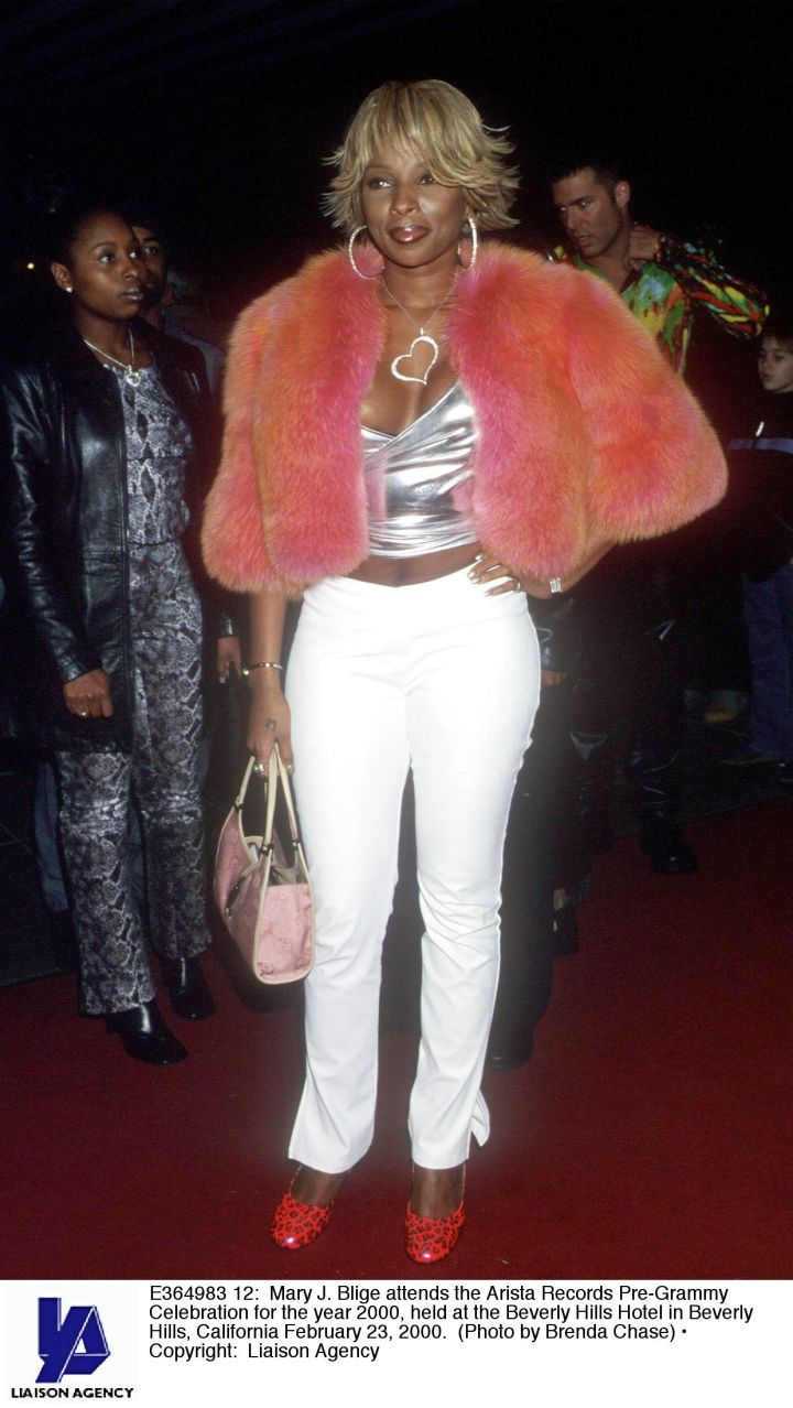 Pink fur and silver metallic, Mary definitely took her share of fashion dares.
