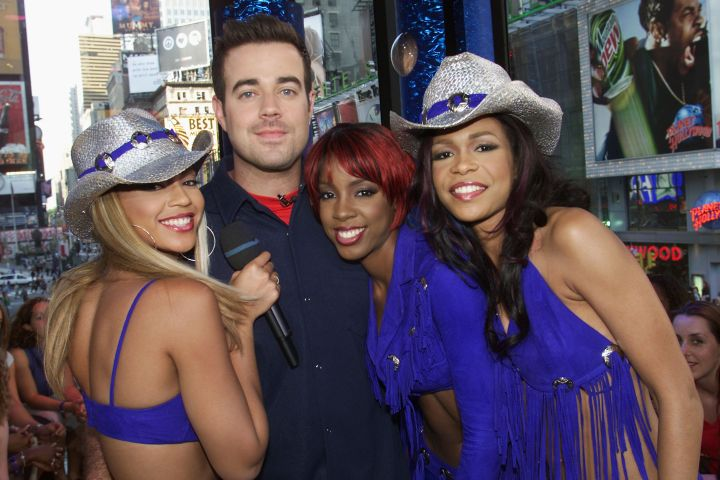 TRL should count as a red carpet, too. Carson Daly!