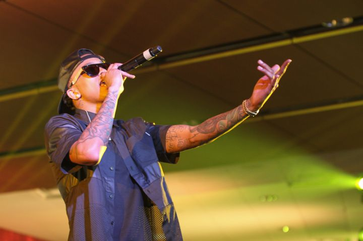 August Alsina at the Mercedes Benz Super Dome in New Orleans during the 20th celebration of the Essence Festival, presented by Coca Cola.