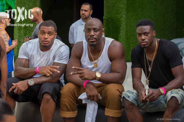 AJ Green Of The Cincinnati Bengals Chills With Some Friends.