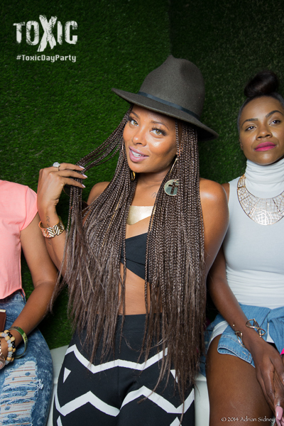 Eva Marcille Hits Toxic Day Party In Boho Style.