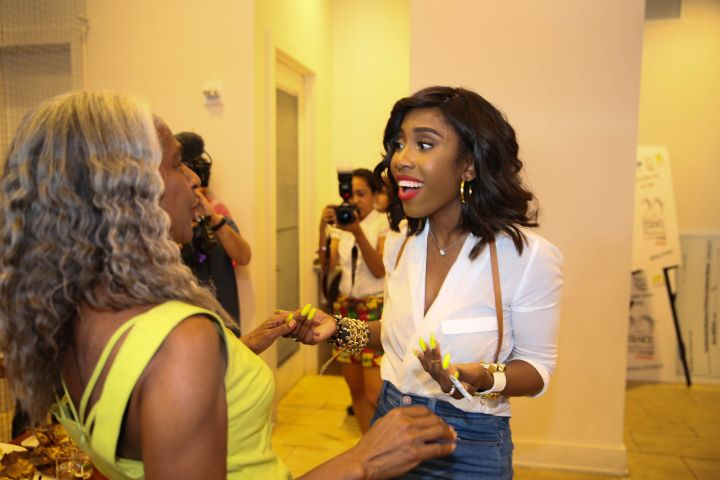 Sevyn Streeter chats during an intimate dinner at NOLA's Borgne Restaurant, sponsored by Ford.