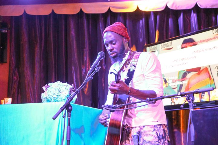 Mali Music gives an intimate performance at the My Black is Beautiful dinner, held at the Gem Saloon, presented by P&G.