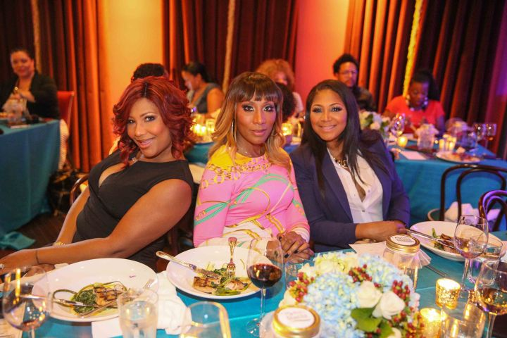 The Braxton sisters strike a pose at the My Black is Beautiful dinner, held at the Gem Saloon, presented by P&G.
