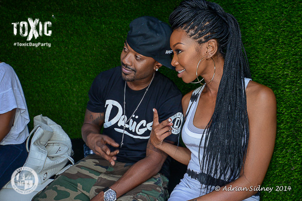 Ray J & Brandy at Toxic Day Party.